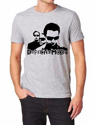 Depeche Mode T-shirt Men Shirt  print by EPSON Grey White  S-XXL