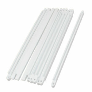 10pcs-Horizontal-Mount-PCB-Board-Slot-Supporting-Guide-Rail-Holder-Bar-White