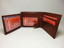 Marshal Burgundy Men's Leather Wallet-11+C.Cards-ID Window-4 Page Insert-#1533CF