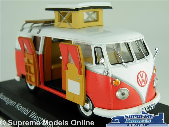 Vw t1 bulli kombi - modell 1 43 skala ixo 1966 westfalia campervan k
