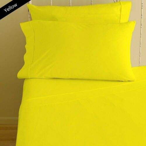 """800 Thread Count Soft Egyptian Cotton Sheets 15/""""Deep Pocket 4 pc Sheet Set/""""Solid"""