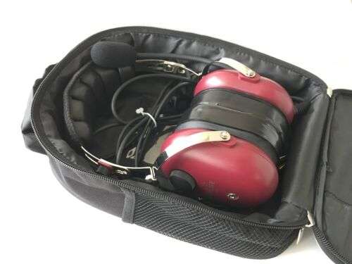 2018 New Wine Red Color BAG SkyLite GA Aviation Pilot Headset with MP3 input