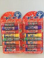 2 X 8 Lip Balm Smacker Cherry Vanilla Coca Cola,fanta Grape Orange,sprite,barqs