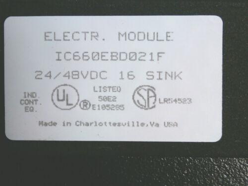 GE Fanuc Genius  IC660BBD023 IC660TBD023 24VDC Sink In//Out IC660EBD021F