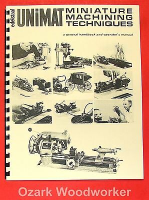 UNIMAT DB200 Miniature Machine Handbook /& Techniques Operator/'s Manual 0728