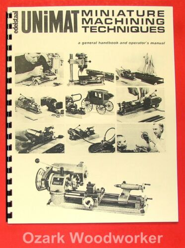UNIMAT-SL Miniature Machine Handbook /& Techniques Operator/'s Manual 0729