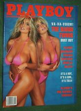 Playboy Sept 1991 POM Samantha Dorman BARBI TWINS L. Douglas Wilder interview
