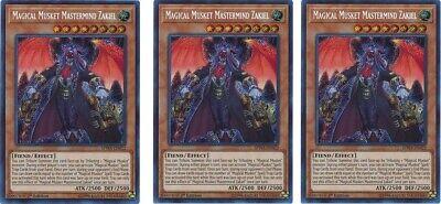 Magical Musket Mastermind Zakiel x3 SPWA-EN022 Yugioh Mint Spirit Warriors 1st