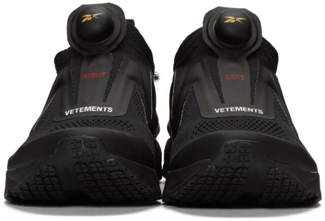 Vetements x Reebok Black Pump Supreme Sneakers US 8.5 Limited 100% Authentic