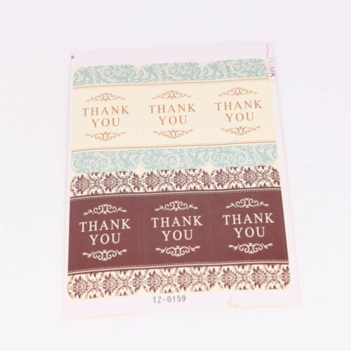 60PCS Thank you Paper Labels Stickers Seals Festival Gift Box Sealing Sticker