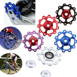 11T Alloy MTB Rear Derailleur Guide Pulley Jockey Wheel Bicycle Guide Roller Set