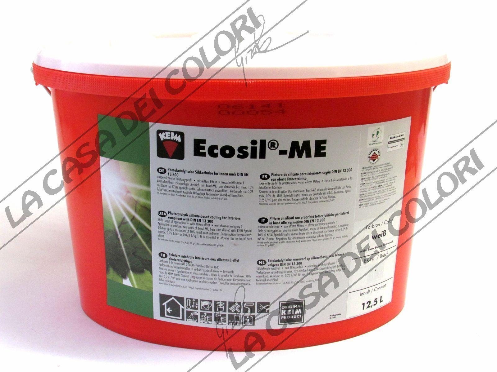 Keim Ecosil 12 5 Lt Bianco Idropittura Per Interni Con Azione Fotocatalitica Ebay