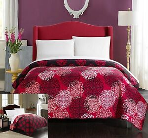 Chic Home 1 Piece Judith Boho Inspired Reversible Print Quilt Set Twin Red