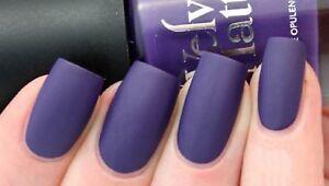 Details About Rimmel London Velvet Matte Nail Polish 016 Purple Opulence Brand New