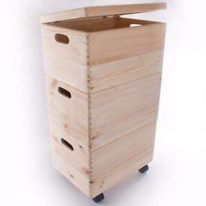 Image Is Loading Xlarge 3 Wooden Stackable Storage Crates Bo With