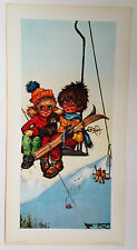 ILLUSTRATION MICHEL THOMAS POULBOT - LA MONTEE // EDITIONS KRISARTS 1970