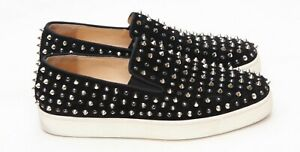c230a0d5485 Details about Christian Louboutin Roller Spike Black Silver Low Suede  Sneakers Sz 39.5/ US 9