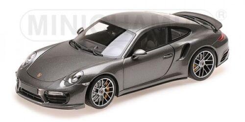 Minichamps 110067121 Porsche 911 991/ii Turbo S 2016 gris metalizado 1:18...