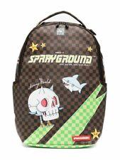 Sprayground INTL TRAVEL PATCH DLX Shark In Paris Pattern Backpack Unisex B3359