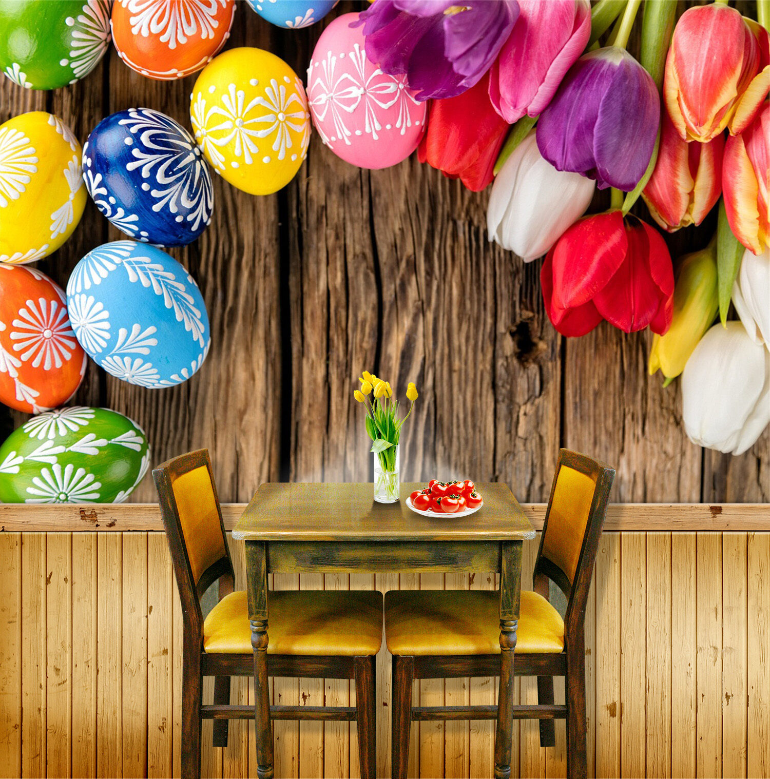 3D Flowers Farbe egg Wall Paper Print Decal Wall Deco Indoor wall Mural