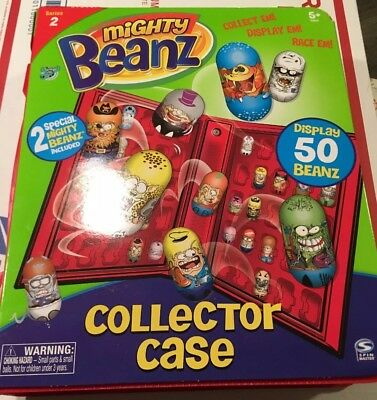 mighty beanz collector case red with 2 special beans. Black Bedroom Furniture Sets. Home Design Ideas