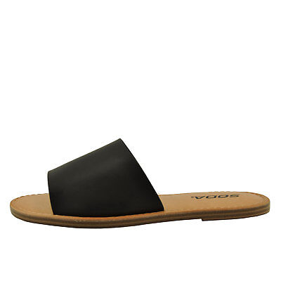 Open Toe Slip On Sandals