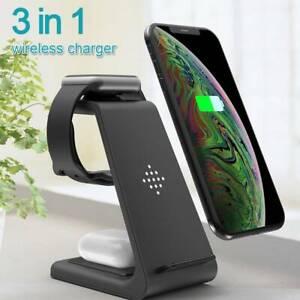 Station chargement support chargeur sans fil rapide 3 en 1 pr iWatch iPhone 1 D1