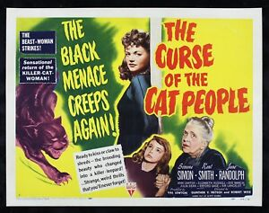 Cat People Insert Movie Poster 14x36 Replica