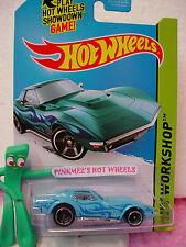 2014 Hot Wheels '69 CORVETTE 1969 Chevy #214☆Kmart Exclusive SKY BLUE☆Heat