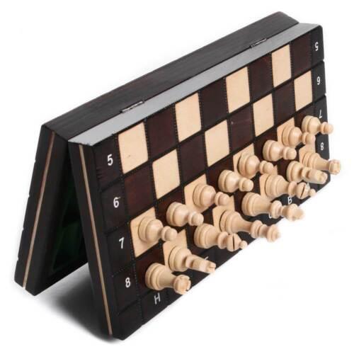 Schachspiel Schach aus Holz Schachbrett Magnetisch Handarbeit  26x26 cm