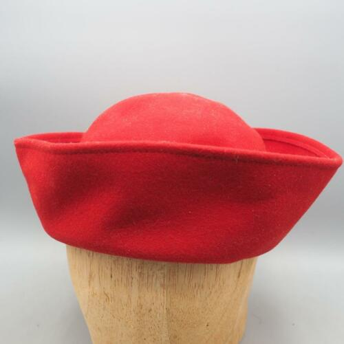 Vintage Dollman Doeskin Womens Red Felt Wool Hat