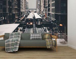 3D-R74-Metro-Ciudad-Transporte-Wallpaper-Mural-Sefl-Adhesivo-Desmontable-Zoe