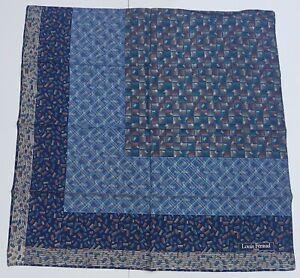 foulard-Louis-Feraud-paris-pura-seta-100-silk-original-made-italy-carre-scarf