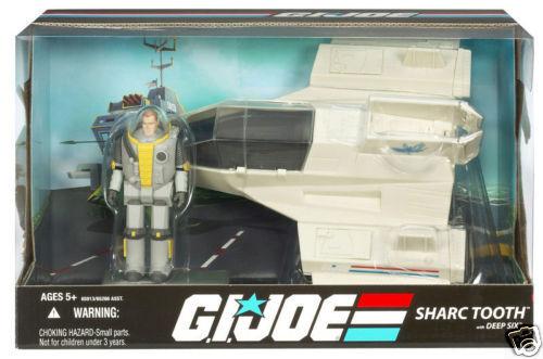 Gi - joe - jubiläum hat sharctooth fahrzeug mit deep six spielzeug - action - figur