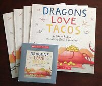 Dragons Love Tacos A. Rubin Scholastic Listening Center 4 Books With Cd