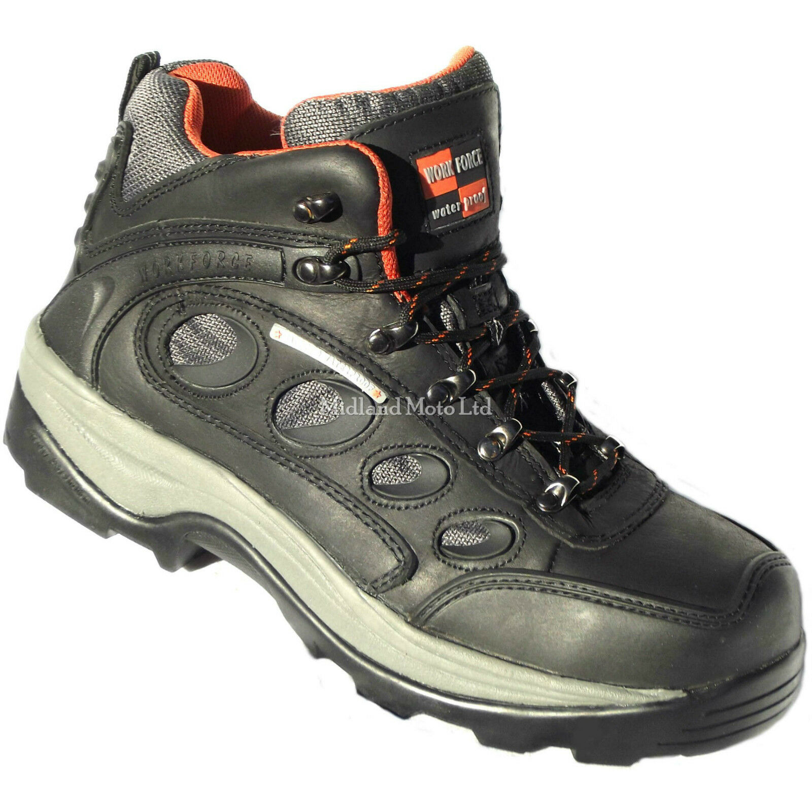 WORKFORCE, Safety Waterproof Steel Toe Cap Hiker Style Safety WORKFORCE, Stiefel / Trainers, Schuhes b4968c