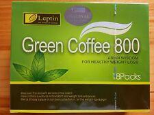 1 Box Leptin Green Coffee 800 Slimming Tea Weight Loss 18 sachets/box