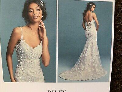 Maggie Sottero Wedding Dress Riley Ivory Champagne Size 10 Ebay