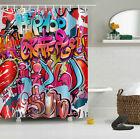 Graffiti 180/200cm Shower Curtain Bathroom Decor Polyester Waterproof Fabric NEW