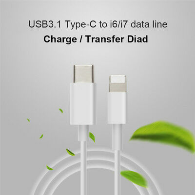USB 3.1 Type C USB-C to Lightning Sync Charger Cable for iPhone 5s 6 6s 7 Plus