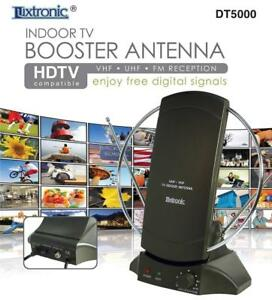 INDOOR-TV-AMPLIFIER-SIGNAL-BOOSTER-ANTENNA-HDTV-COMPATIBLE-VHF-UHF-FM-RECEPTION