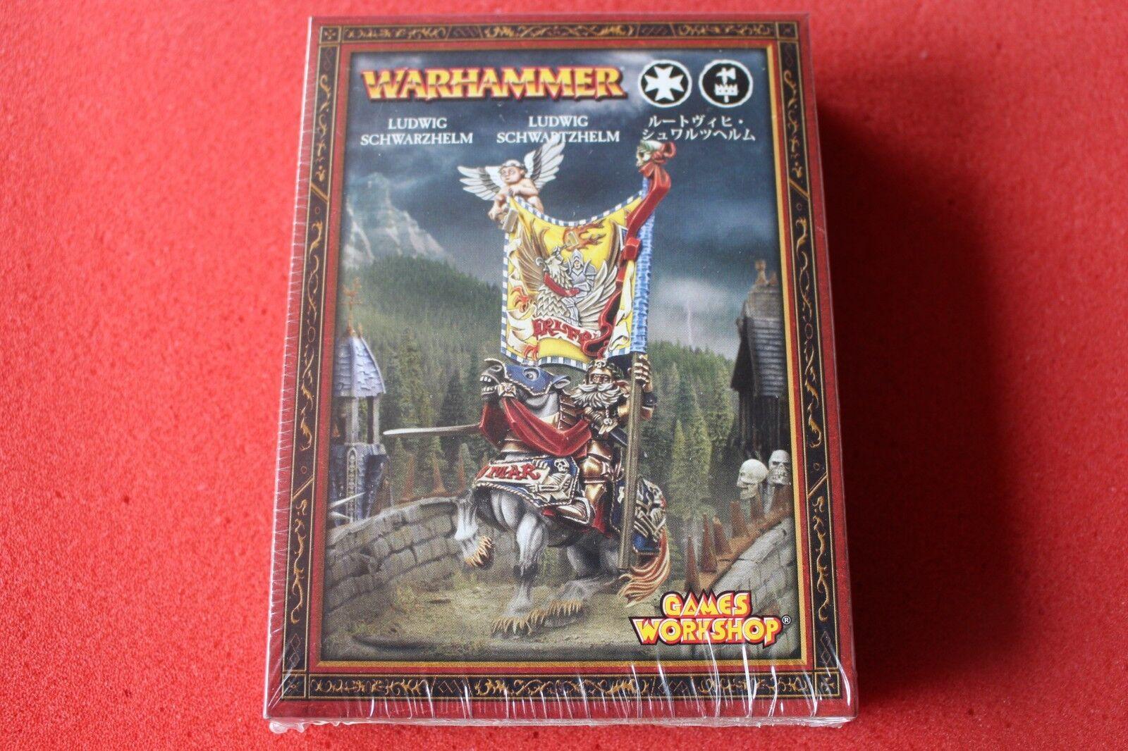si affrettò a vedere giocos lavoronegozio Warhammer L'Impero Ludwig nerohelm gli gli gli imperatori CHAMPION in mettuttio  nuova esclusiva di fascia alta