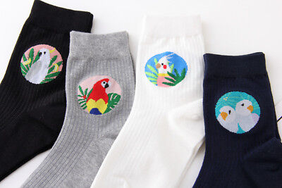 Ladies Womens Girls Fashion Socks Comfortable Parrot Birds Cockatoo Pattern