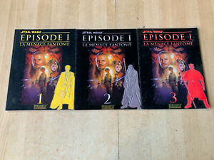 Lot 3 livres STAR WARS épisode 1 : la menace fantôme - Romans photo