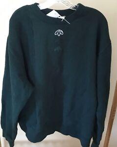 Adidas Alexander Wang In Out Men's Black Zipper Fleece Sweatshirt Jacket CE2501