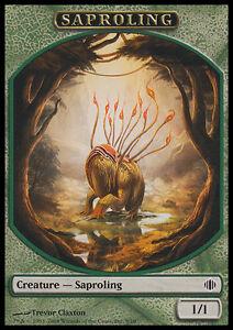 10-Token-Cards-SAPROLING-Shards-of-Alara-SAME-ART-NM-SP-Magic-MTG-FTG