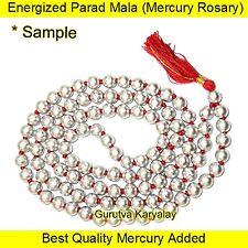 Fine Finish Parad Mala 5-6 MM 108+1 Beads Parad Rosary Mercury Mala Parad Moti