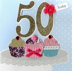 Image Is Loading Second Nature 50th Birthday Keepsake Card Luxury Handmade