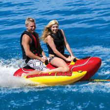 Airhead Kwik Double Dog Inflatable Water Tube 2 Rider Boat Tow Towable HD2 HD-2