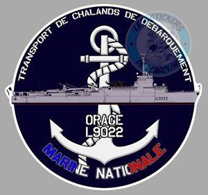 AUTOCOLLANT-MARINE-NATIONALE-TCD-ORAGE-TRANSPORT-DE-CHALANDS-DEBARQUEMENT-TB014